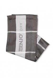 Bamboo T-Towel - Stripe Charcoal
