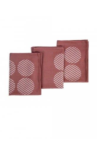 Bamboo T-Towel - Rhubarb