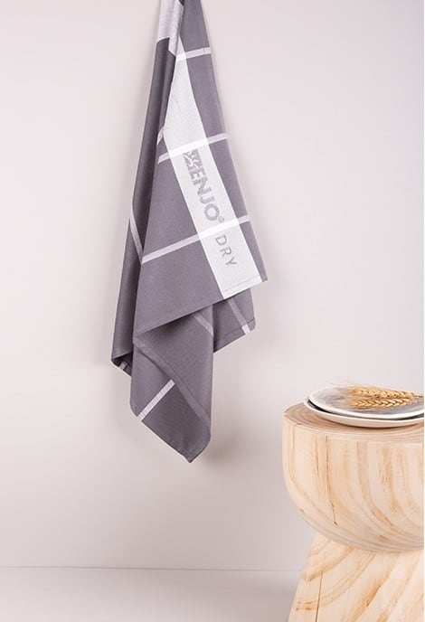 Bamboo T-Towel - Stripe Charcoal