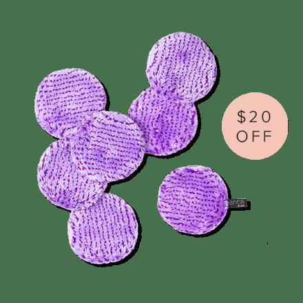 Makeup Remover Set (7) Lilac