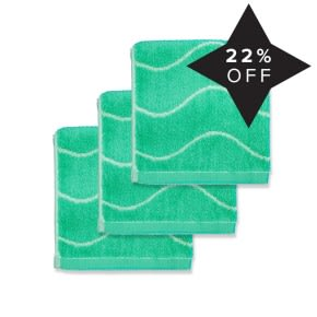 Limited Edition Bamboo Face Towel (3) Mint