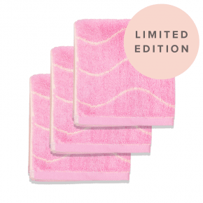 Limited Edition Bamboo Face Towel (3) Pink