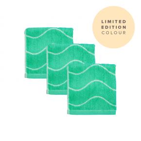 Limited Edition Bamboo Face Towel (3) Aqua
