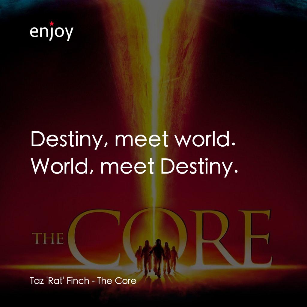 Taz 'Rat' Finch: Destiny, meet world. World, meet Destiny.