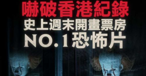 《小丑回魂2》破香港史上恐怖片開畫週末票房