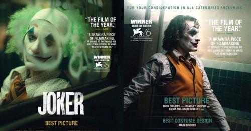 最佳男主角拿起來!華納公布《小丑》報名奧斯卡獎項,絕美公關海報超吸睛!