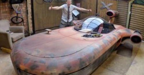 知名英國 YouTuber 發揮創意,把《星際大戰》 Landspeeder 陸行艇變真的!