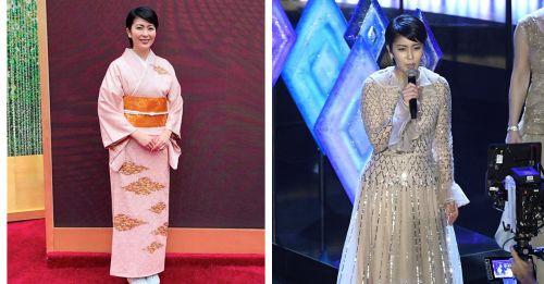 松隆子以一身傳統和服走上紅毯,成為首位在奧斯卡舞台表演的日本女星!