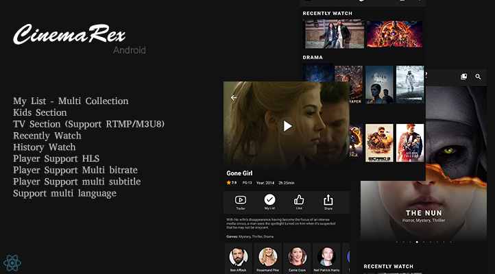 CinemaRex - Streaming Service Download