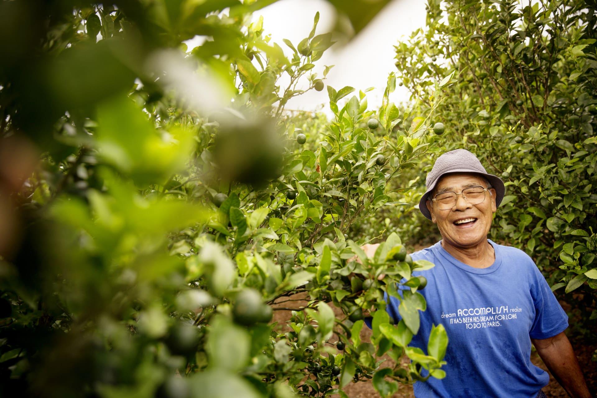A organic orange farmer.