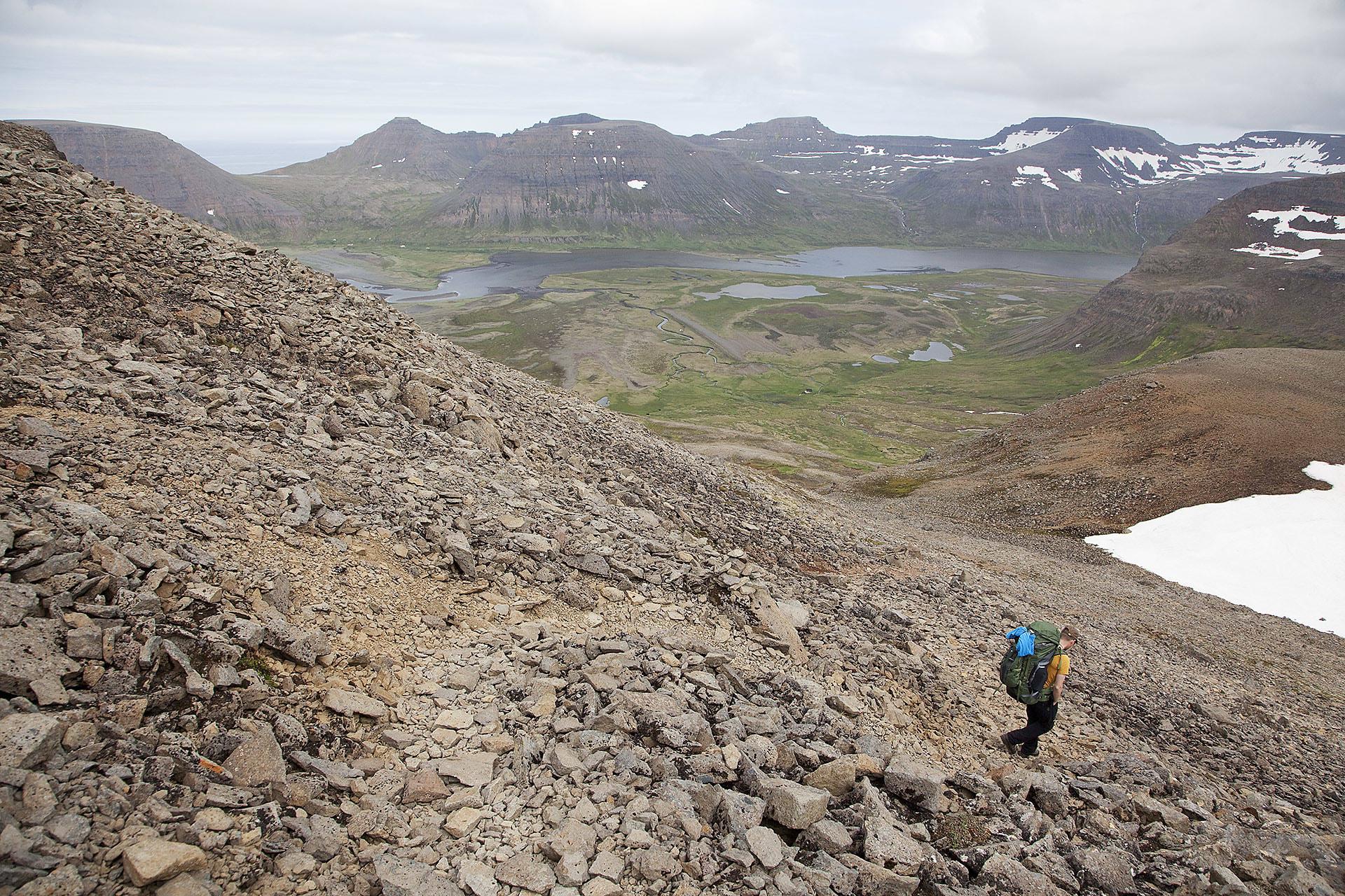 Despite its remoteness there are trails.