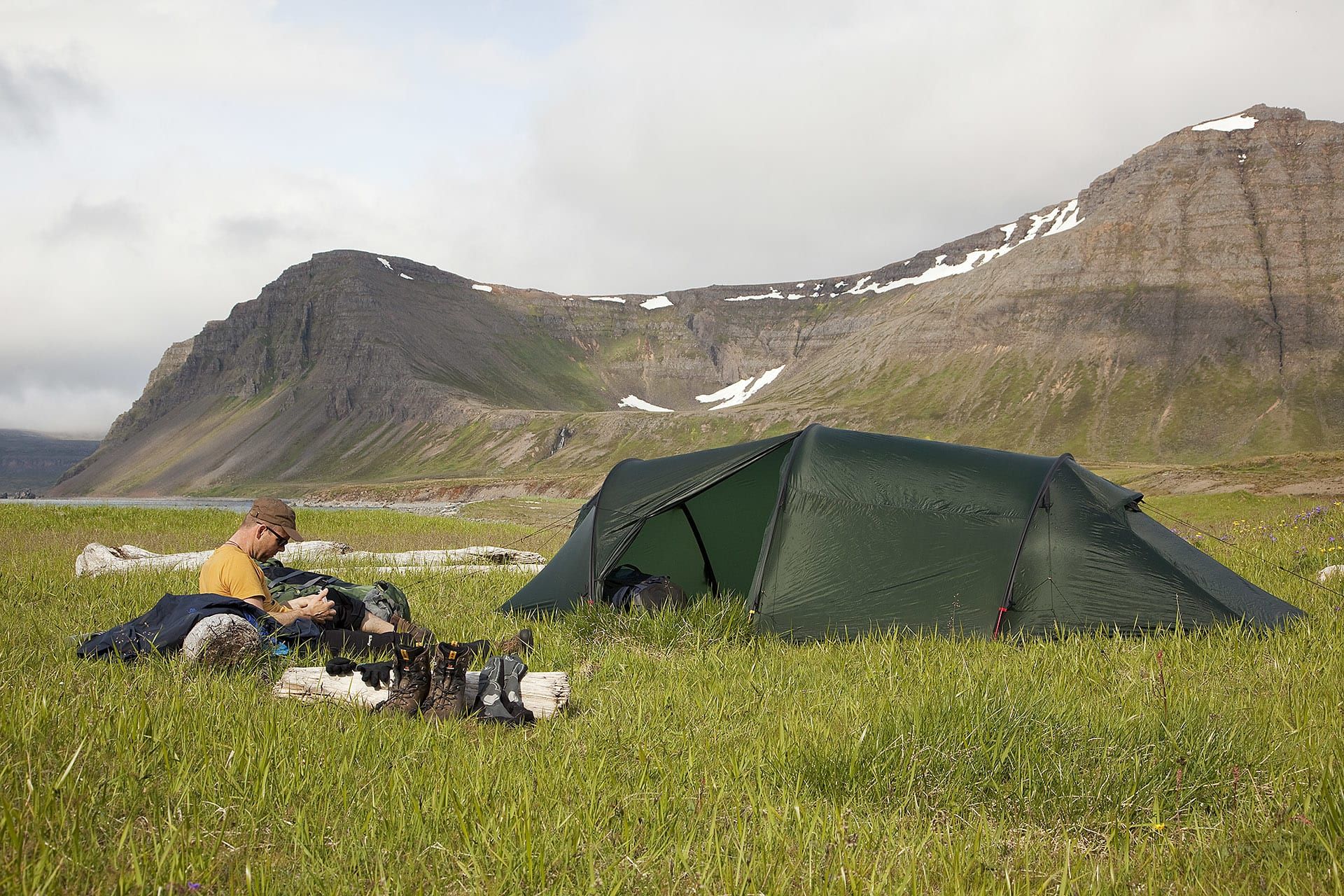 Finding tent spots was easy, especially in the valleys.