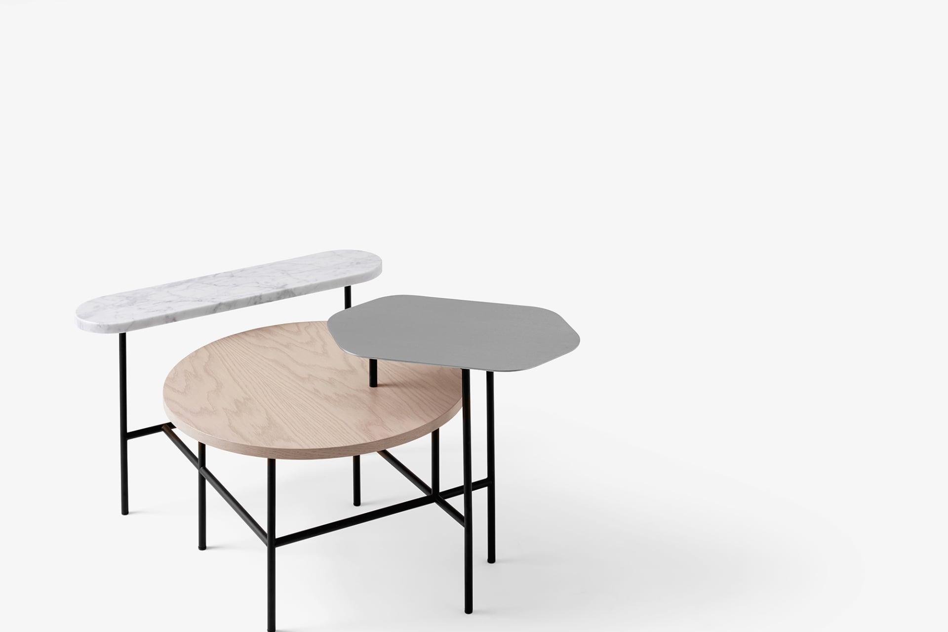 Palett table är framtagen i samarbete med &Tradition. Egentligen är det tre bord som satts sam- man till ett och inspirationen har hämtats från konst- världen. &Tradition, 11 495 kr