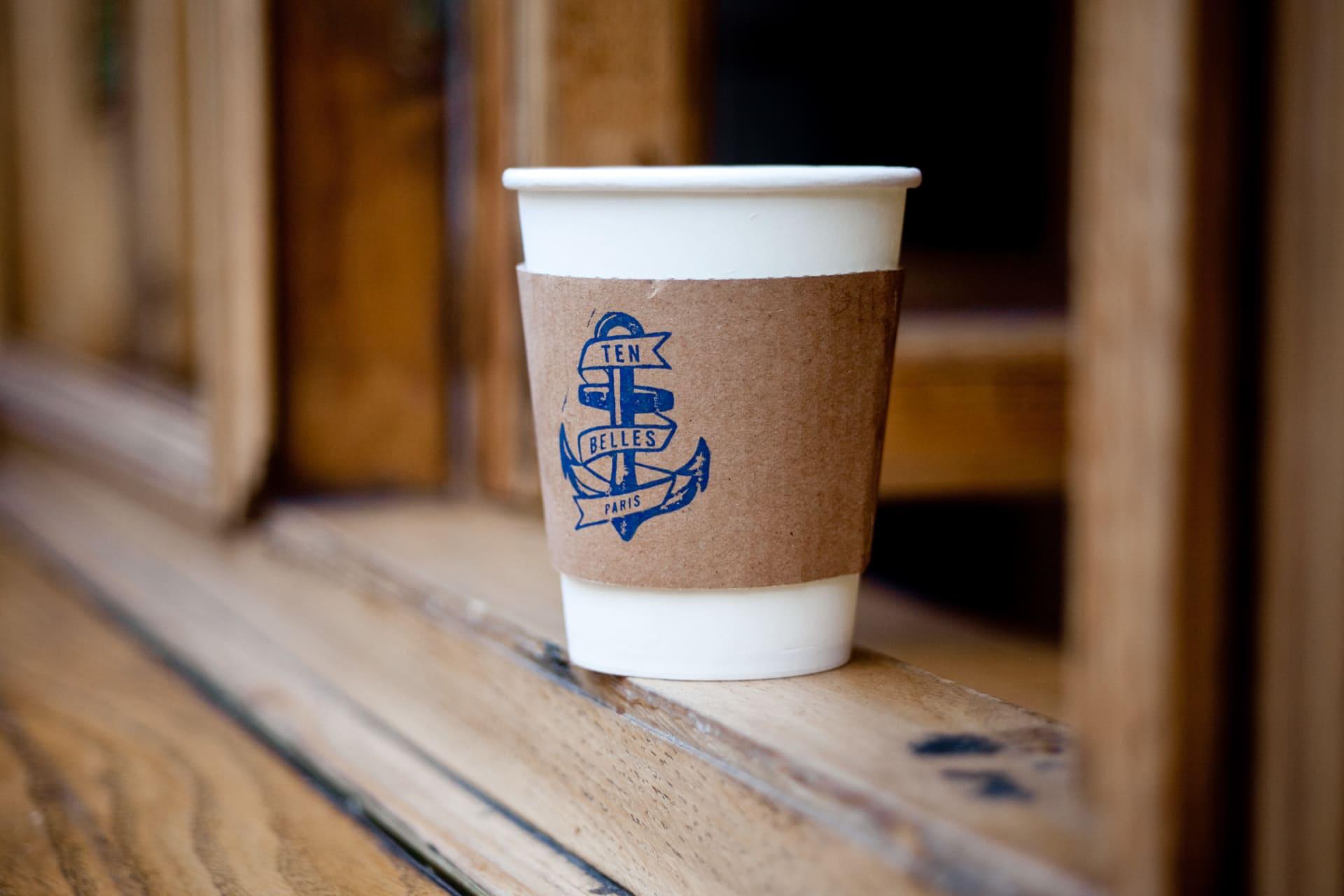 I hjärtat av 10th arrondissement ligger Ten Belles, där kan ni avnjuta fantastiskkaffe.