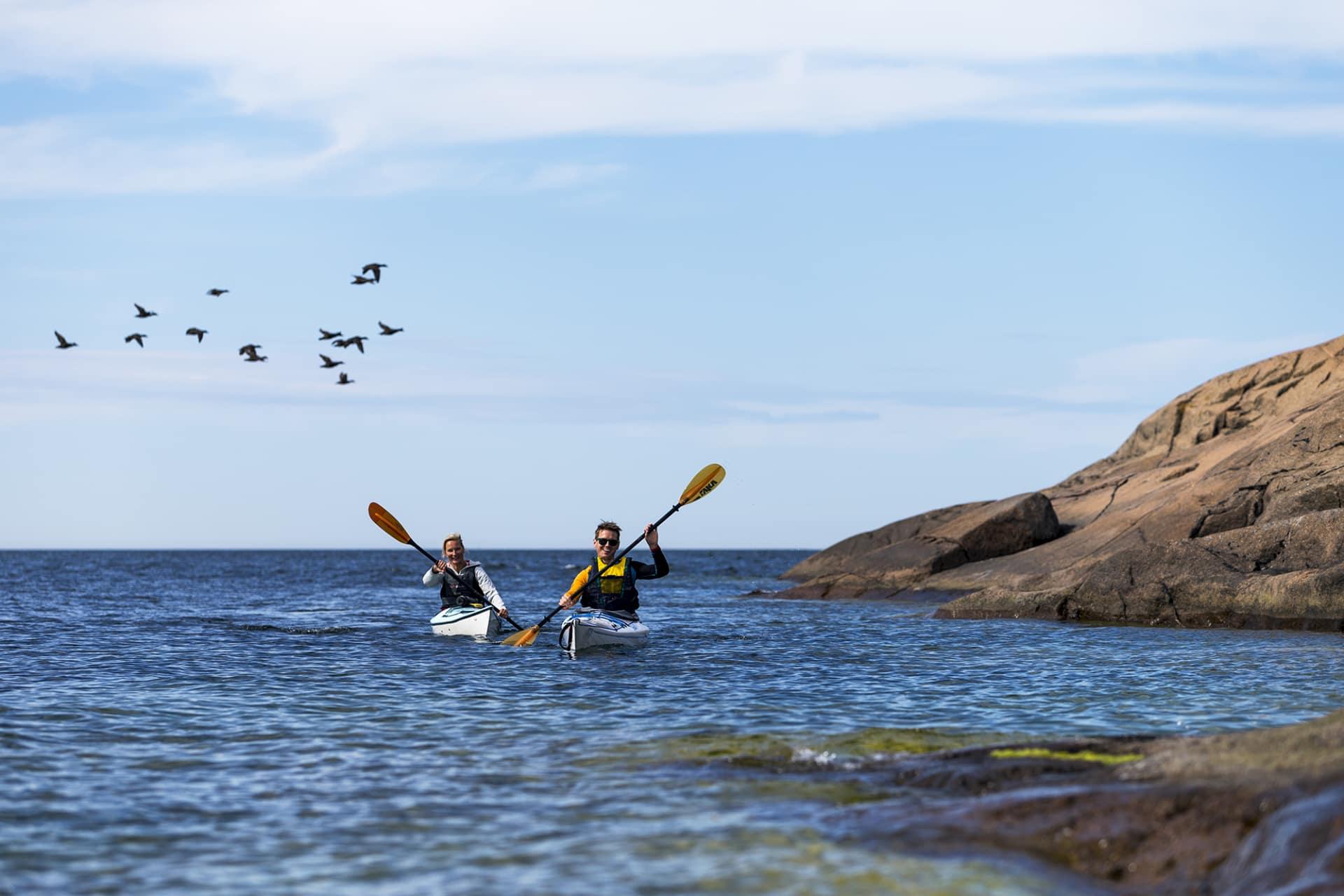 Ålands skärgård lämpar sig perfekt för kajakpaddling.