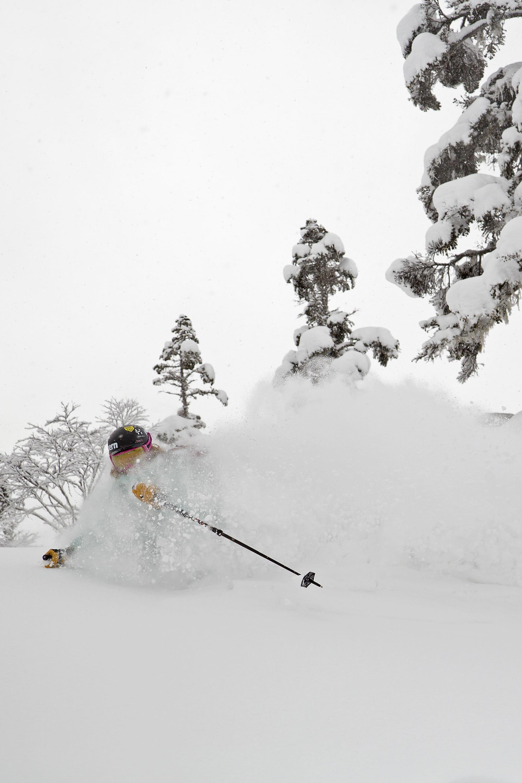Japan är känt för stora mängder lätt snö. Det tycker Anne May Slinning om.