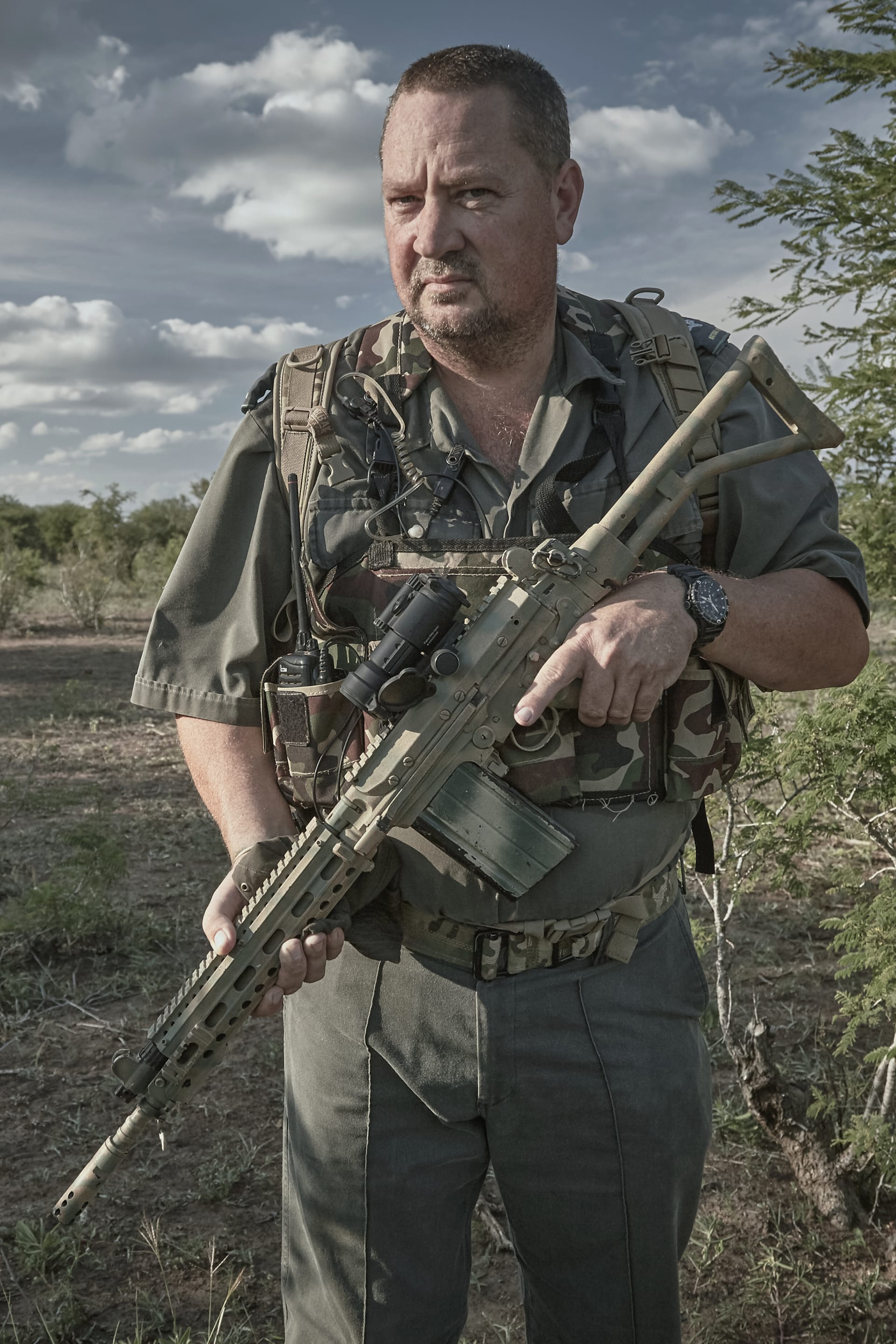 Section ranger - his primary function is to ensure the integrity of his section. That task may extend into contact situations with poachers, often exchanging gunfire.