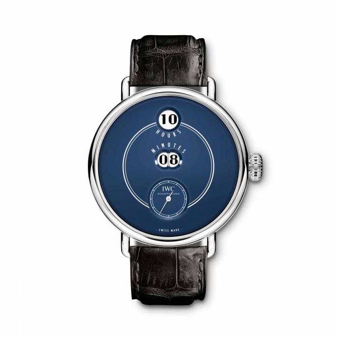 "IWC Tribute to Pallweber edition ""150 Years"" med blå urtavla,boetti stål 45 mm. Limiterad 500 exemplar.©IWC"