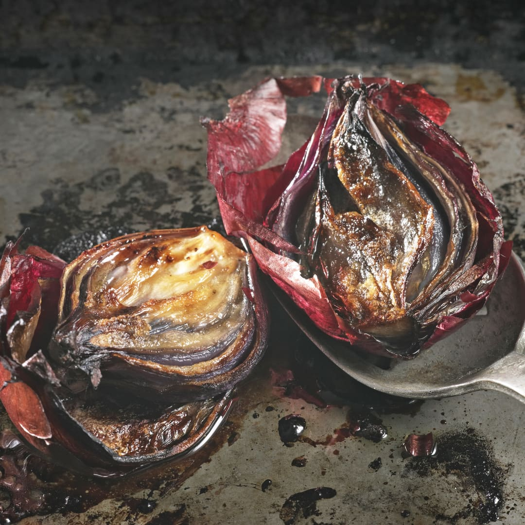Mum's special Roasted Red Onions