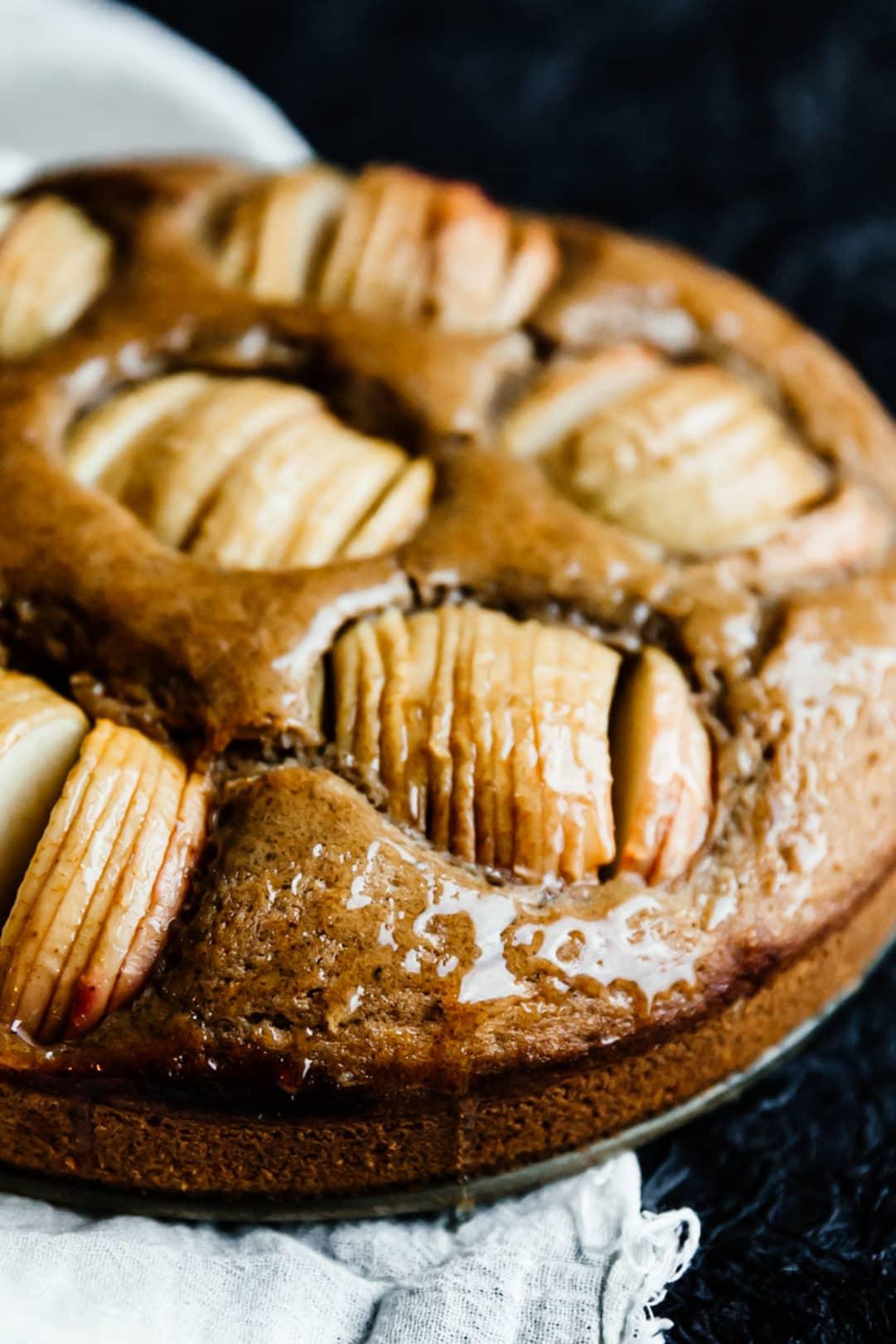 brown butter & hazelnut apple cake