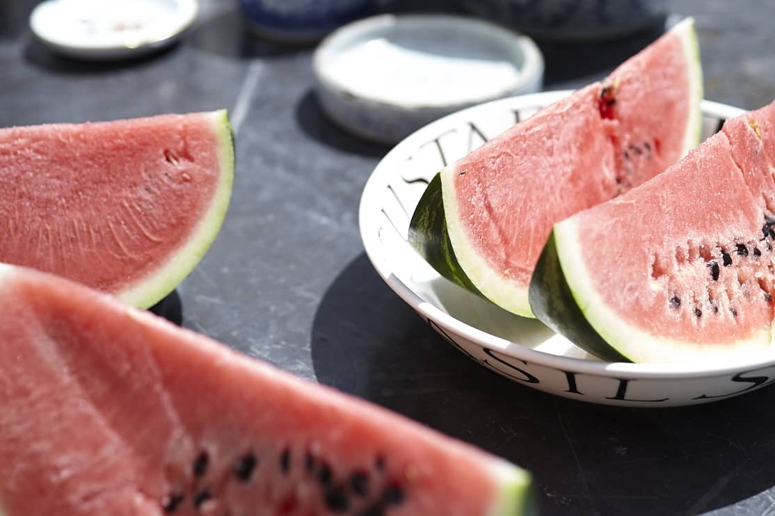 Vattenmelon smakar extra gott i den mallorkinska solen.