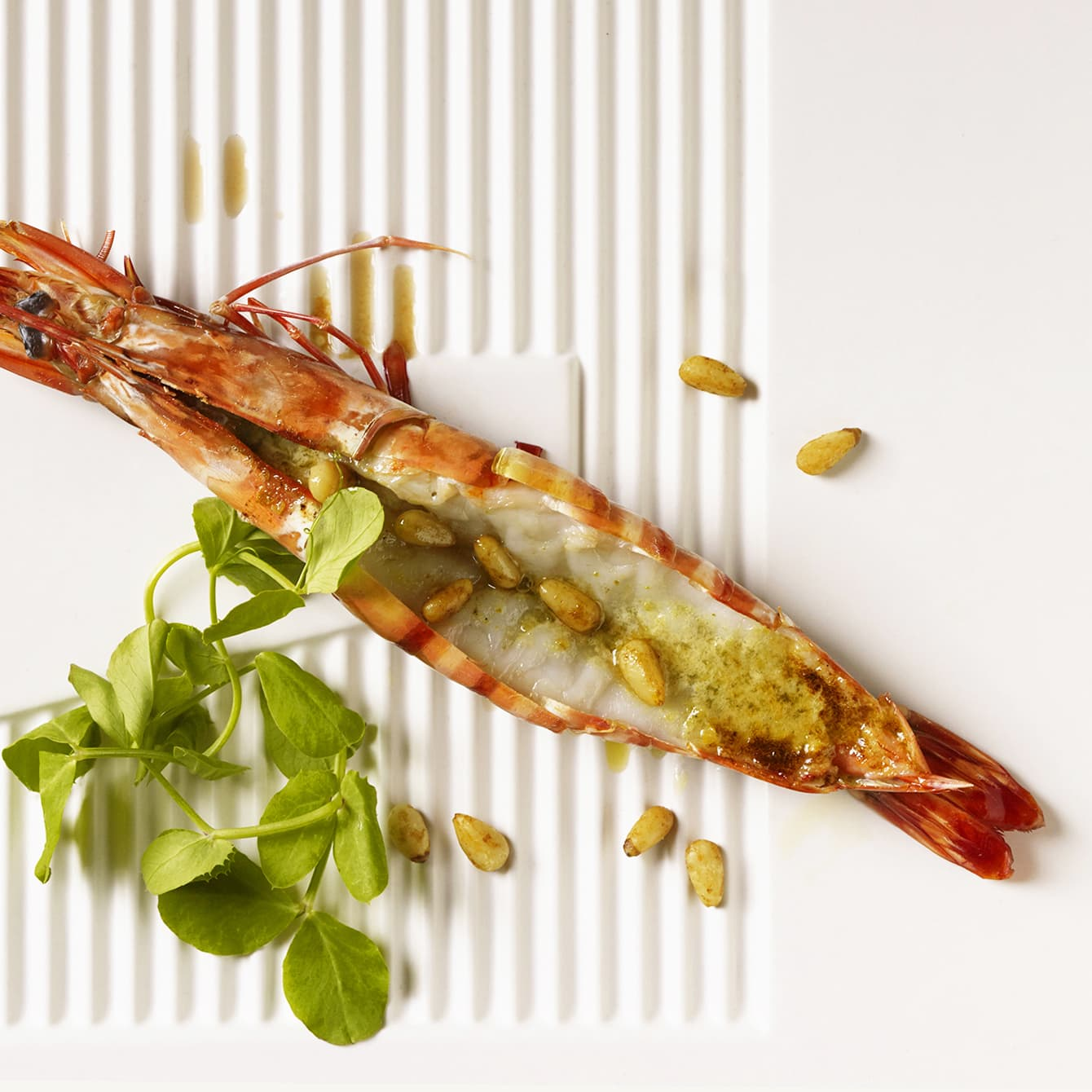 Giant tiger prawn grilled with Yuzu pepper paste