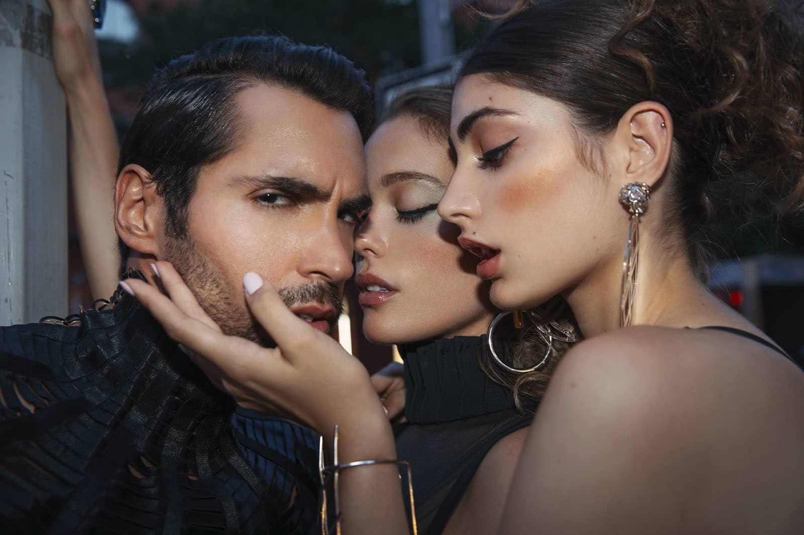 Earrings, Noa Jewelry.Bra top,Marina Micanovich. Earrings, Georgina Herrera.