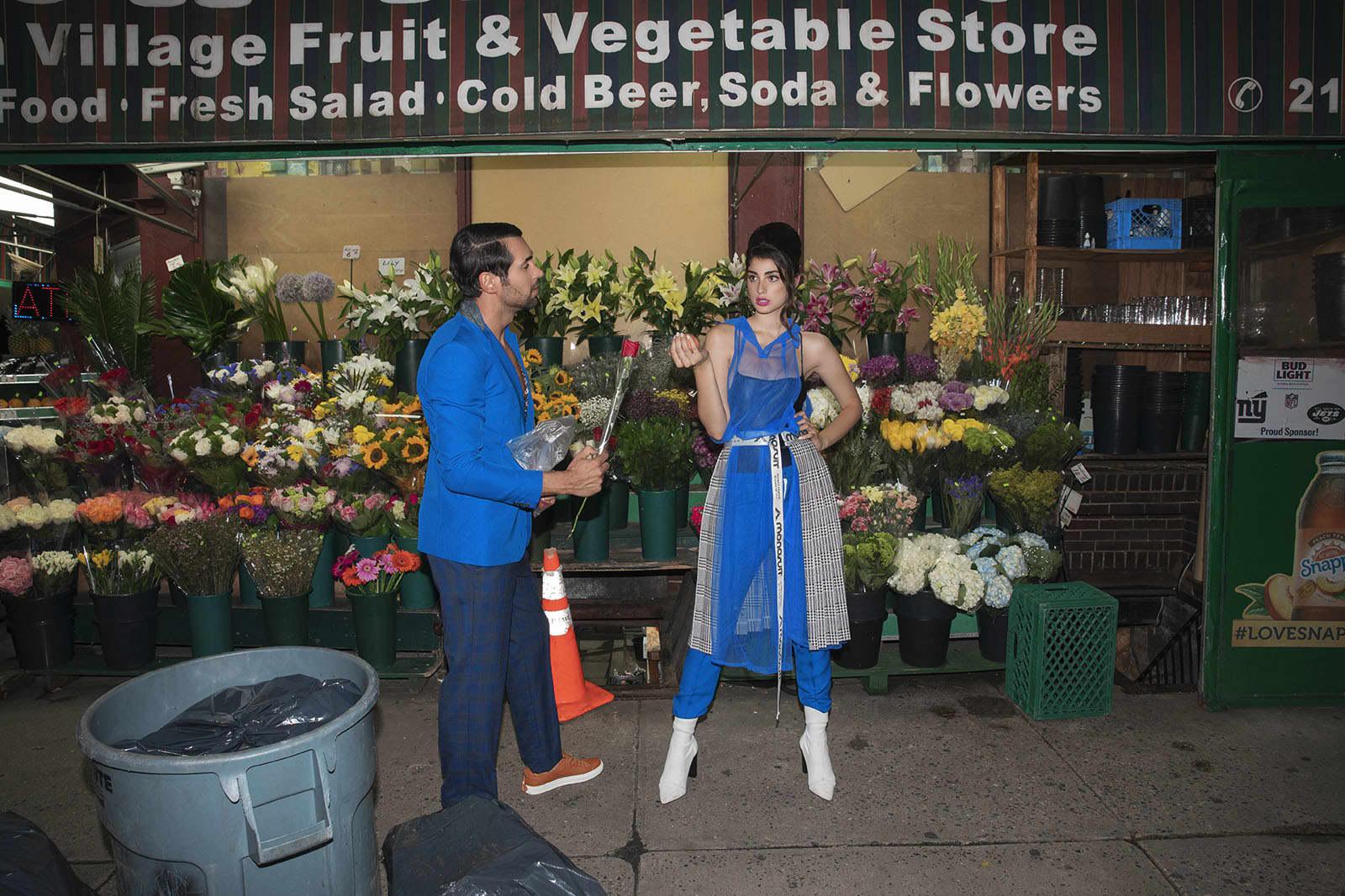 Blazer, Hiromi Asai.Pants and shoes, Miranda Kurtishi. Transparent dress and skirt,Monosuit.Boots, Paula Torres.