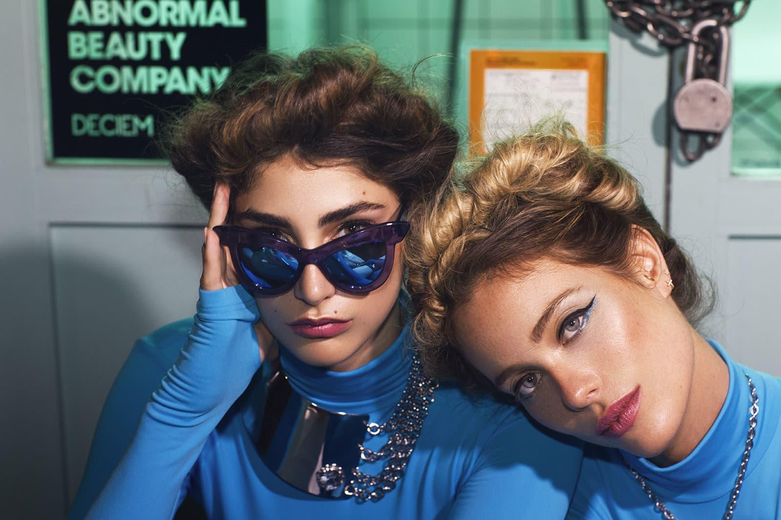 Blue jumpsuit, Monosuit. Sunglasses, Coco and Breezy. Necklace, Georgina Herrera.