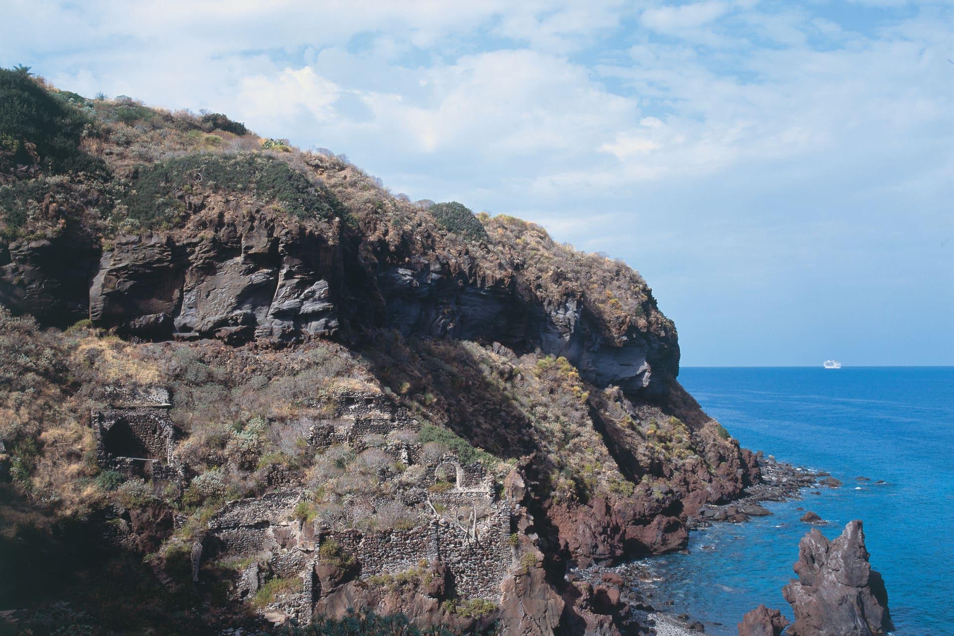 A corner of the Pollara beach.