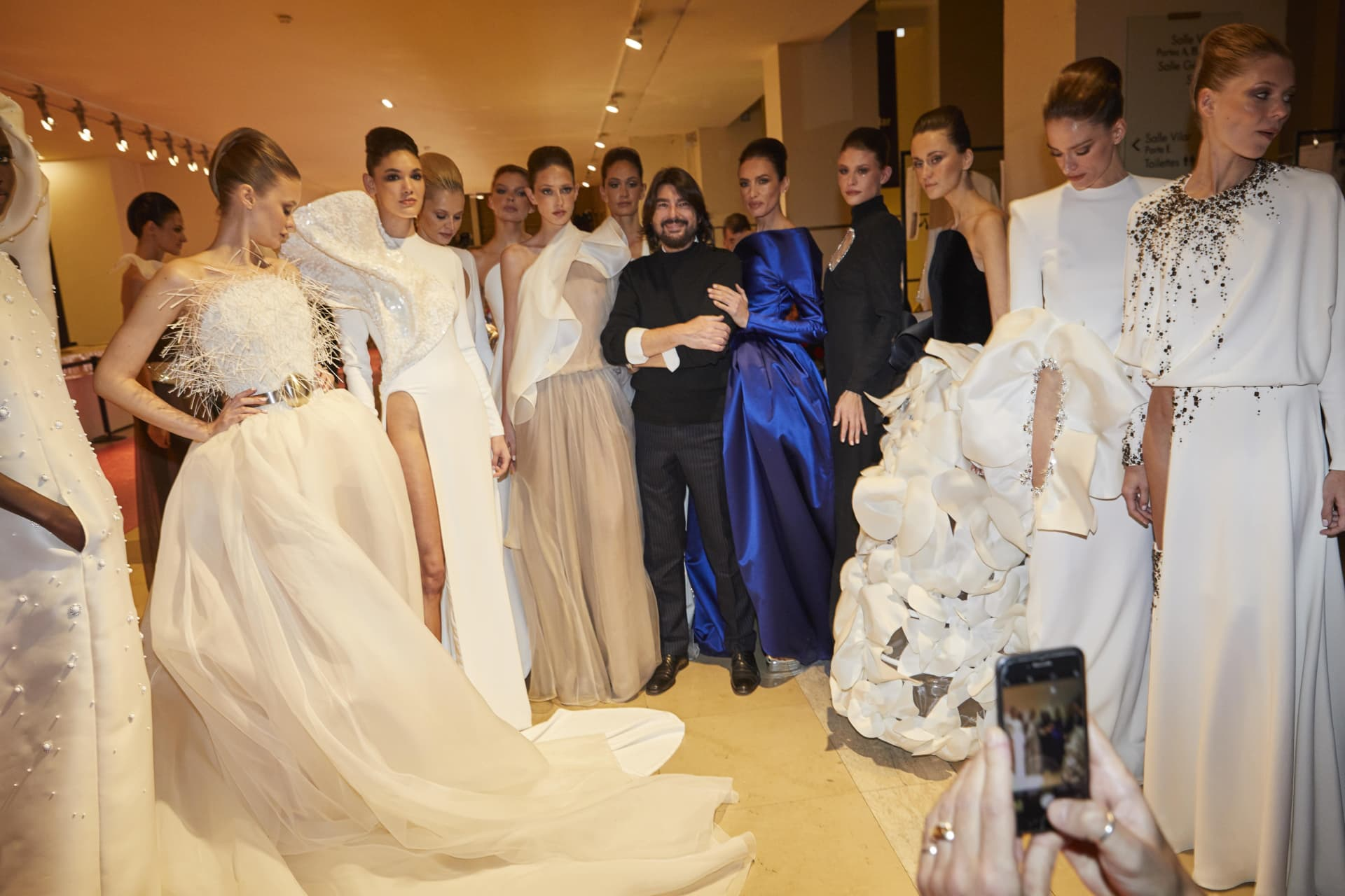 Designer Stephan Rolland and his Models.