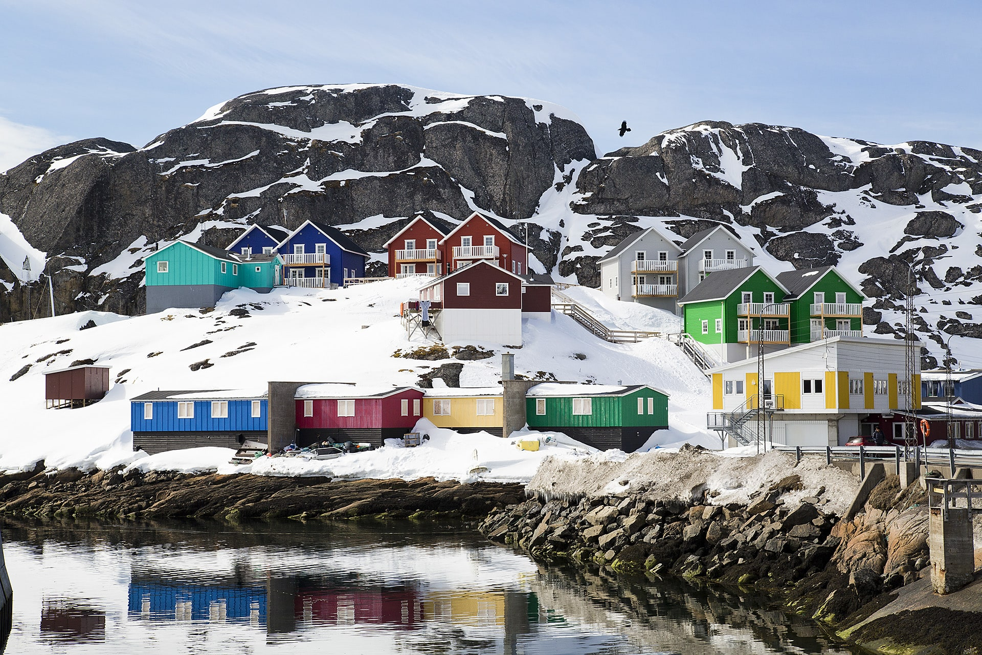 Colorful houses in Maniitsoq.