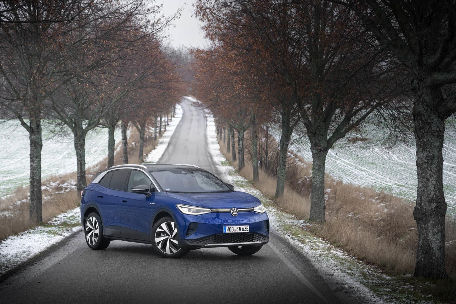 Formen på ID.4 skiljer sig mycket från övriga modeller hos Volkswagen vilket gör att man lätt kommer känna igen den.