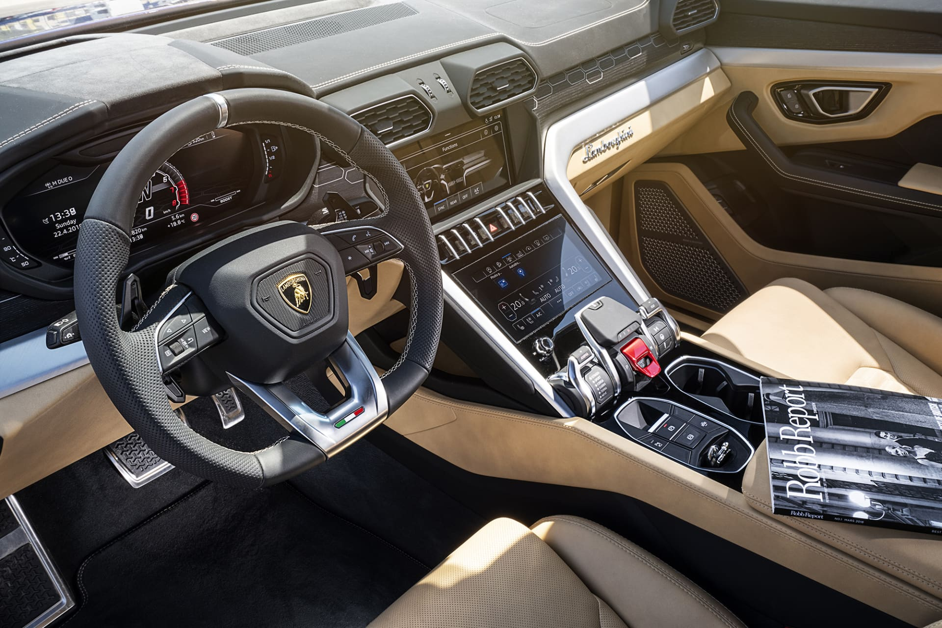 Much of the interior of Urus is more like a fighter aircraft than a car.