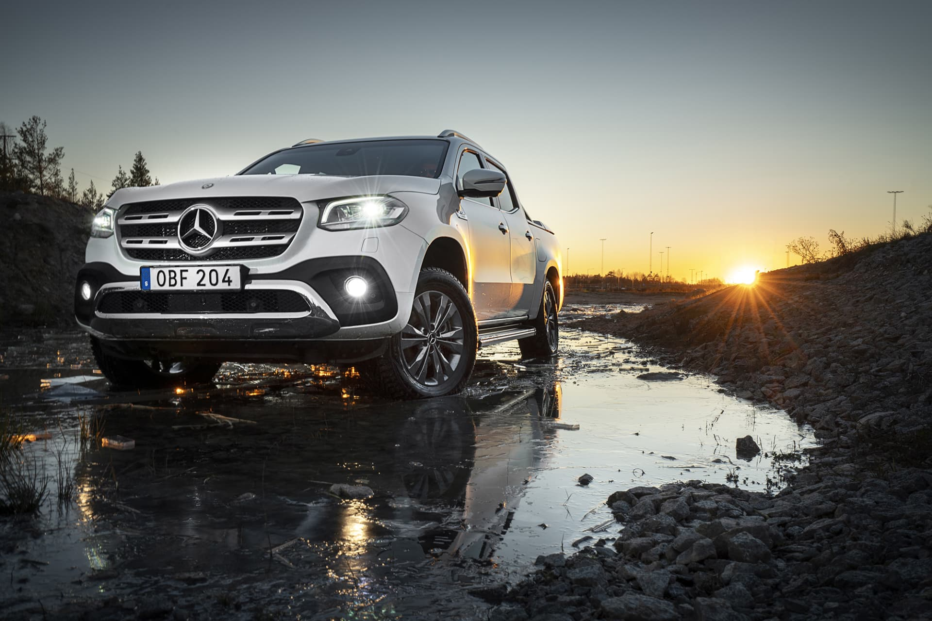 With its sign in the front, X-Class is a premium pickup.