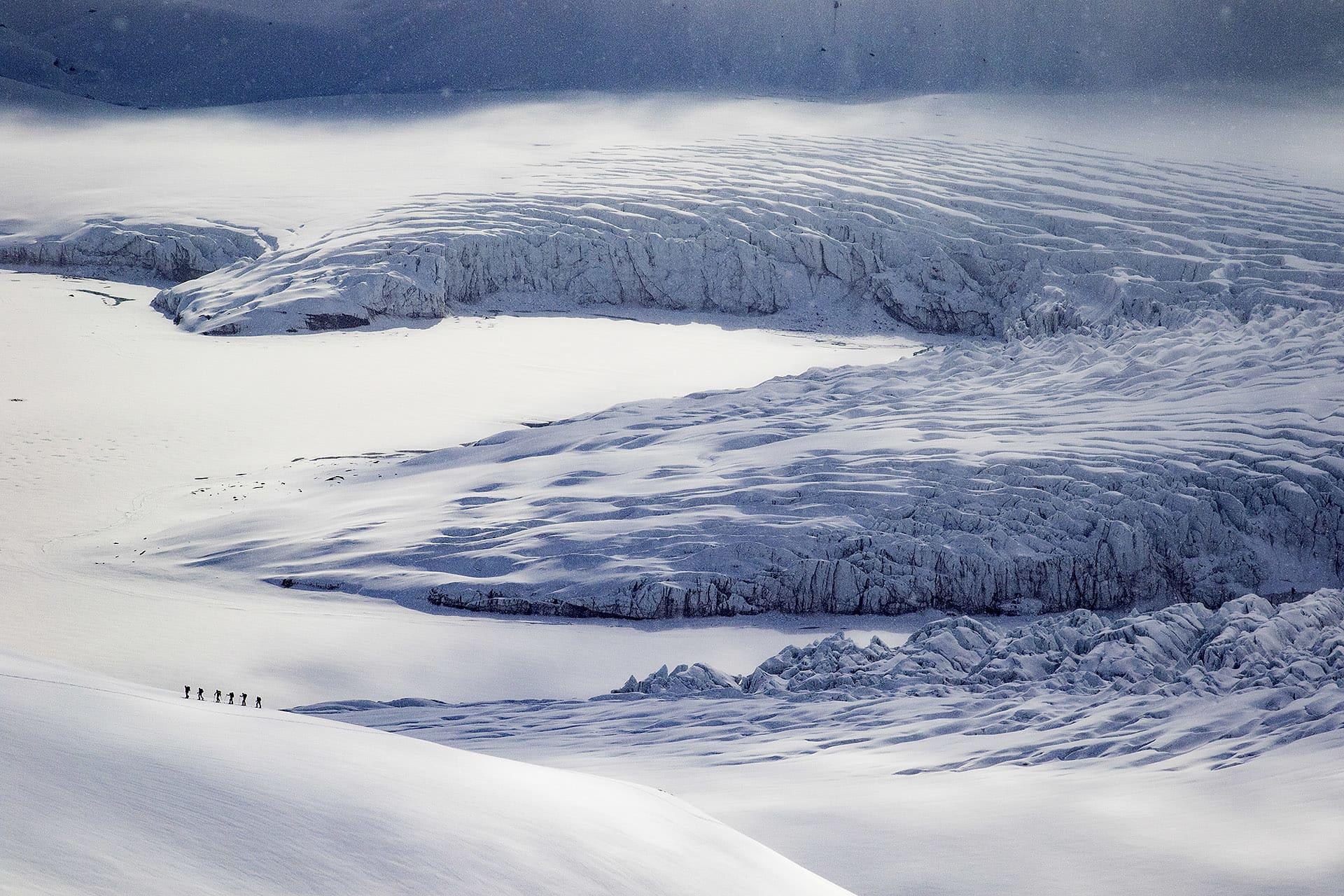 Den mäktiga Nansenglaciären.