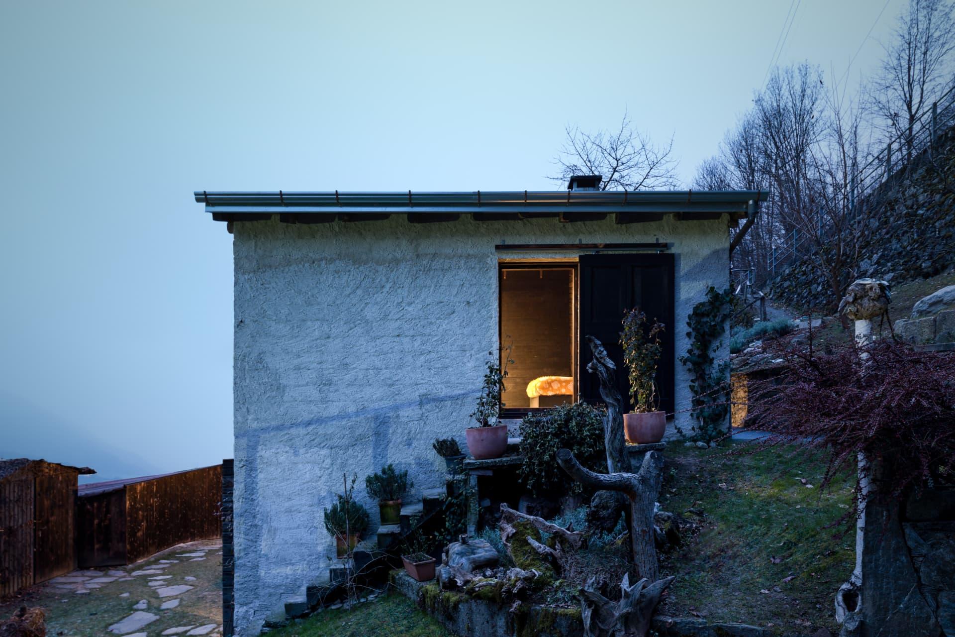 House and garden.