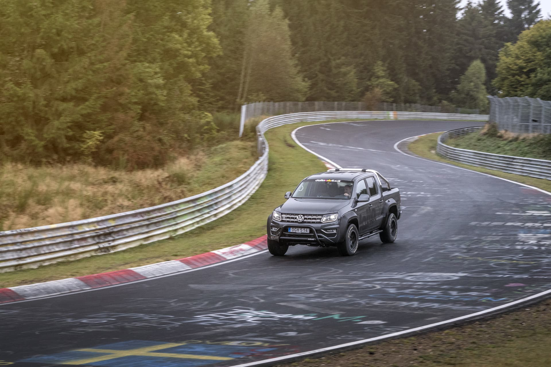 When Delta 4x4 had completed their work, I drove straight to the Nürburgring where I took a couple of laps on the classic North Loop.