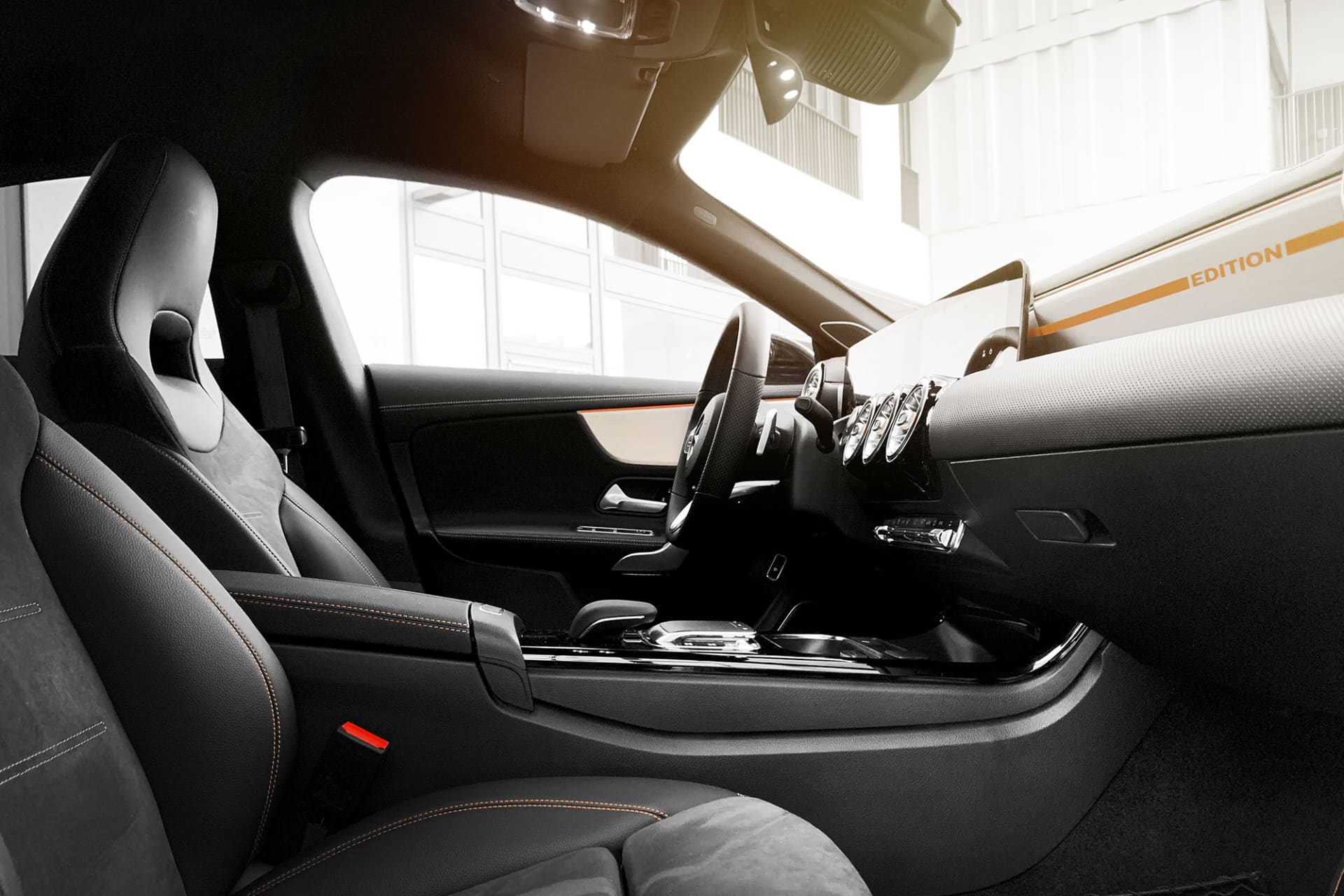 The interior of the CLA is tight and well-fitting without feeling small and claustrophobic.