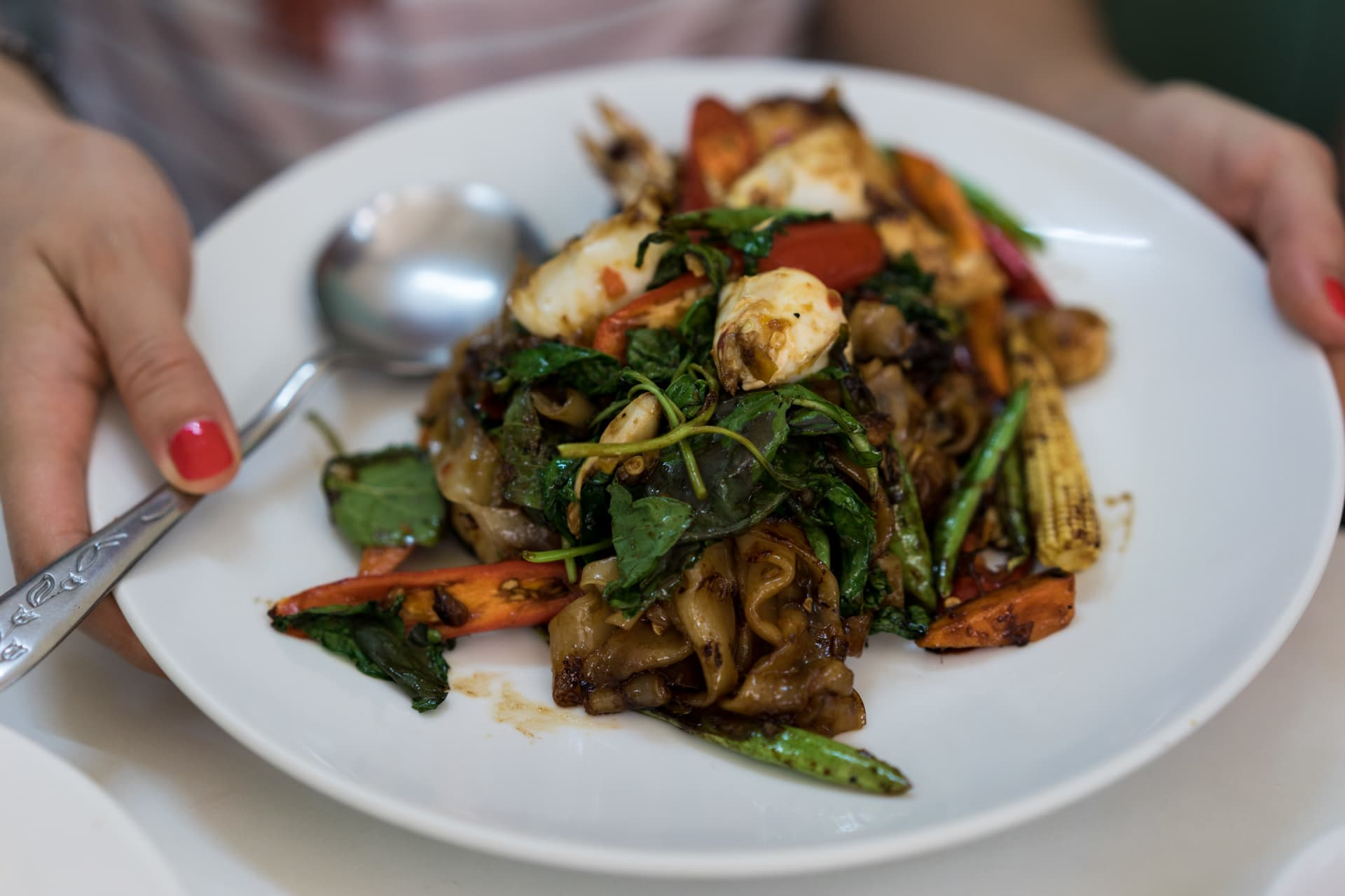 Drunken noodles – a signature by street food queen Jay Fai