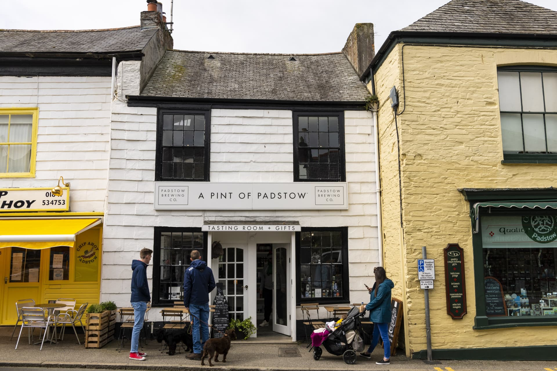 Lovers of craft beer are not ignored in Padstow and can get a pint of beer at numerous pubs.