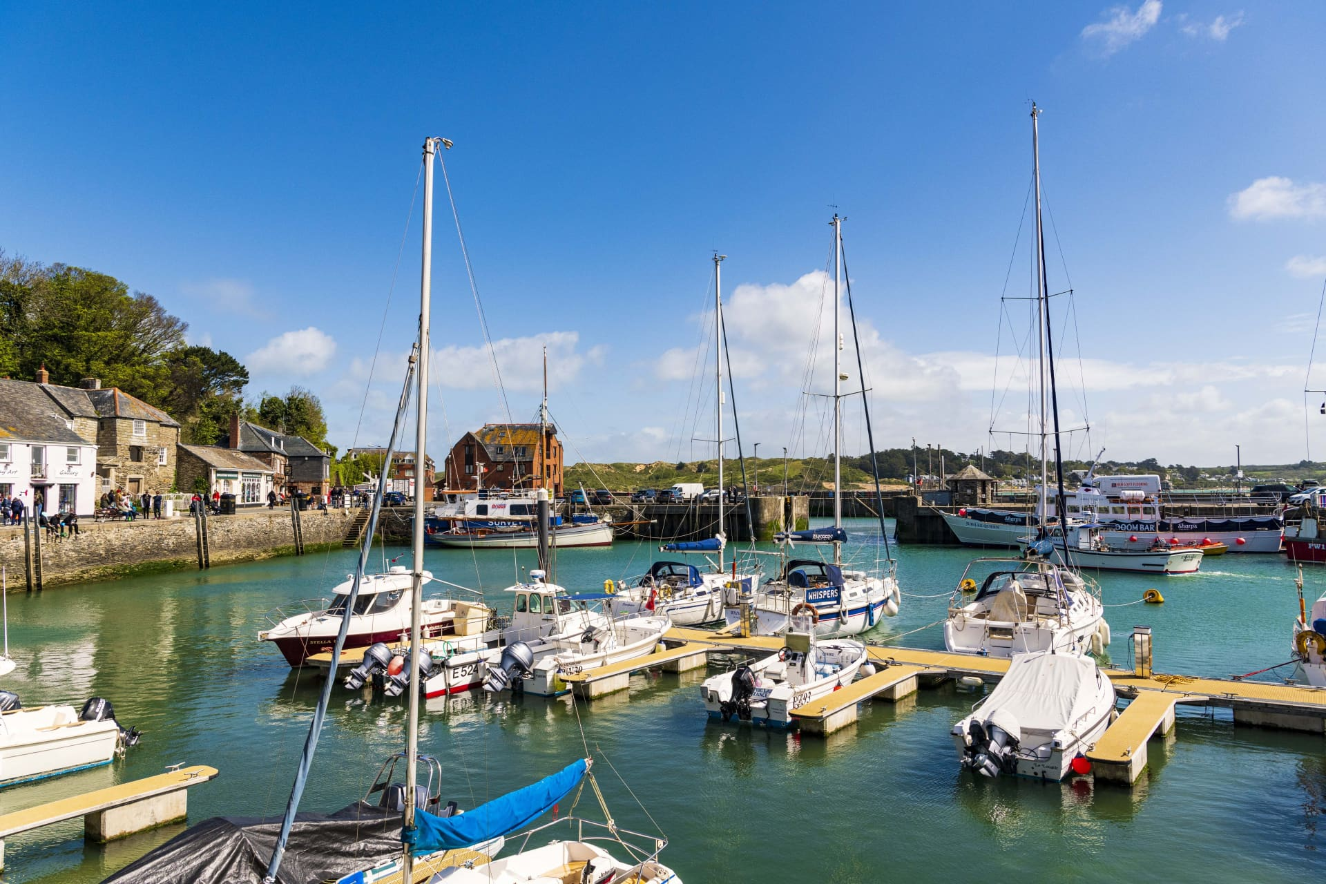 Padstow Harbour, where Rick Stein has many establishments in the town that cater for all tastes.