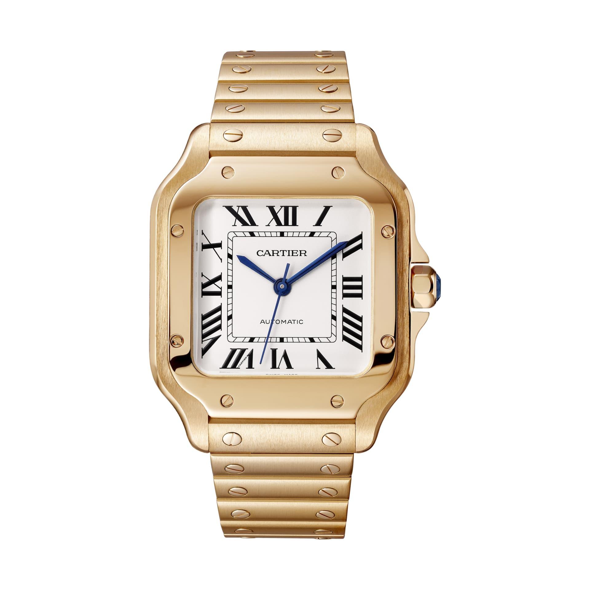 Santos de Cartier klocka i guld med automatiskt urverk. © Cartier