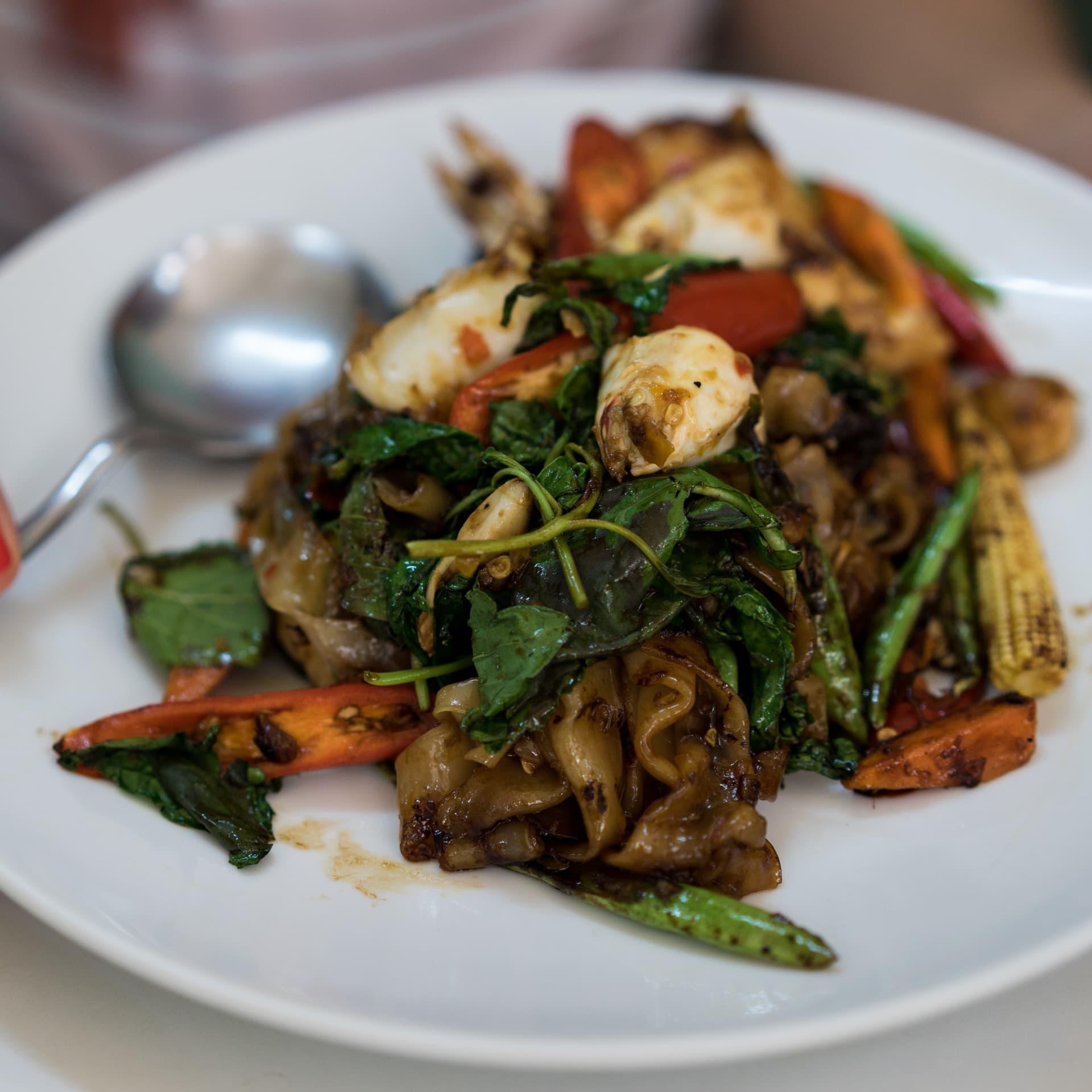 Drunken noodles – a signature by street food queen Jay Fai