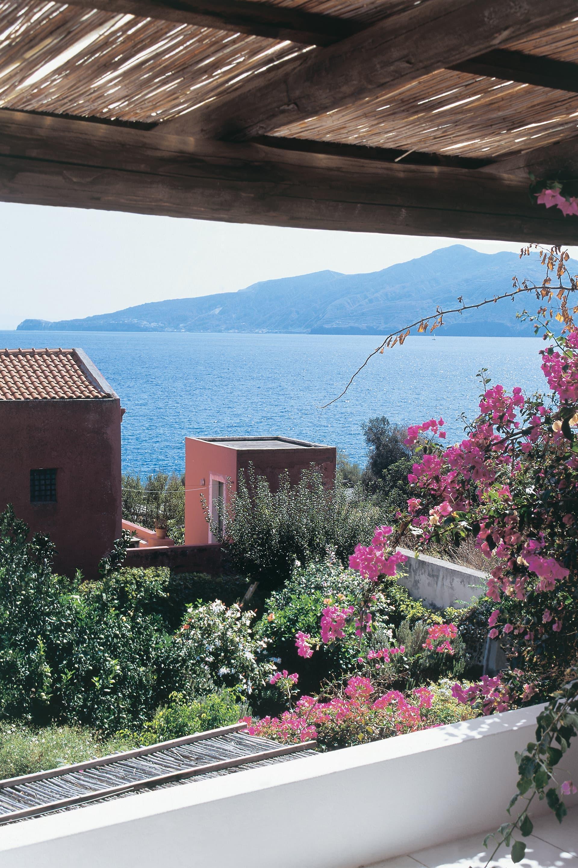 Lipari, seen from the terrace of a house in Santa Marina di Salina.