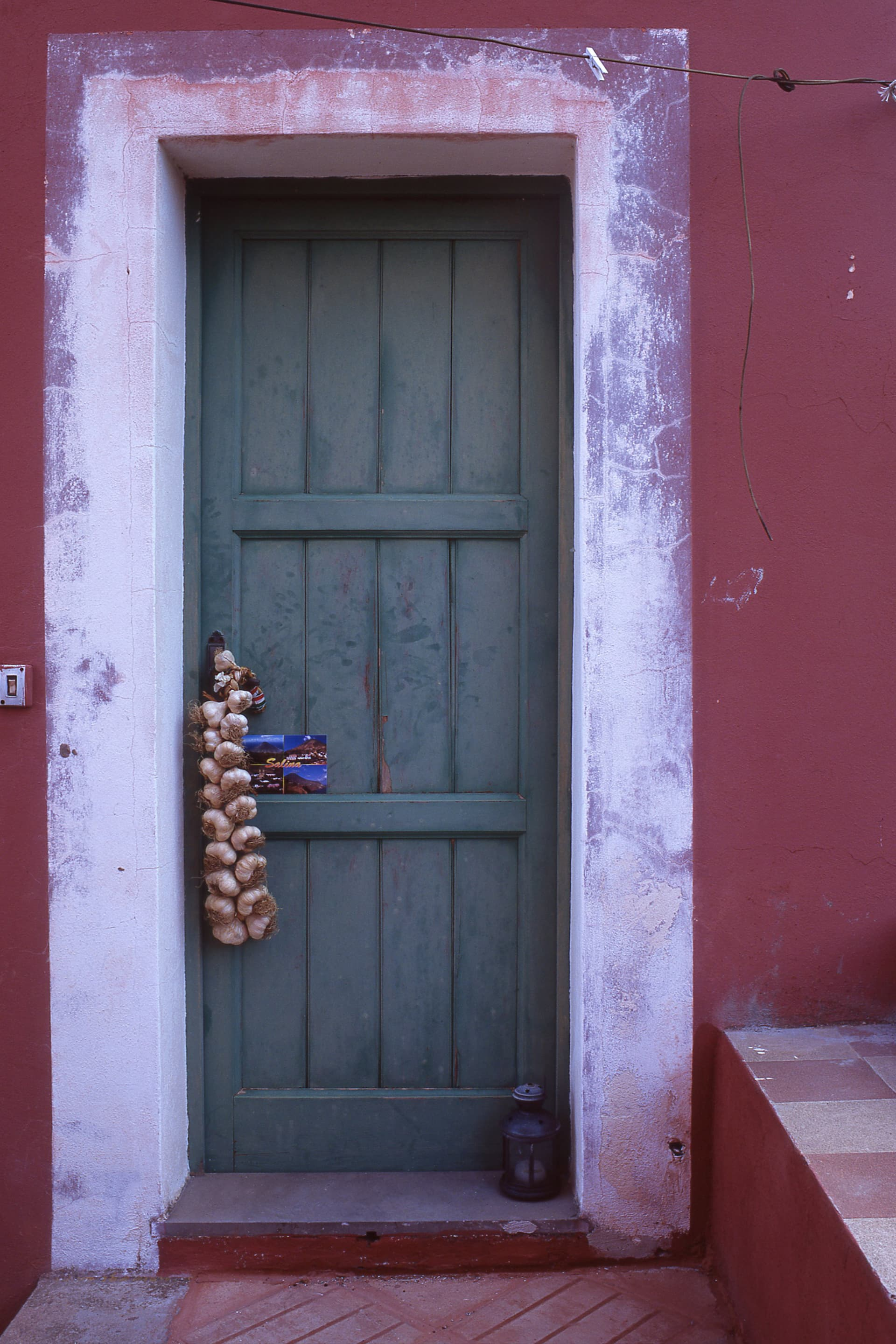 The door is the color of an Aeolian house.