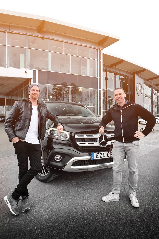 Leveransen av min nya X-Class sköttes excellent av Sebastian Karlsson på Vehobil. En ny epok med Mercedes startade i och med detta.