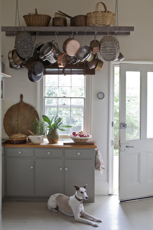 The tiny kitchen.