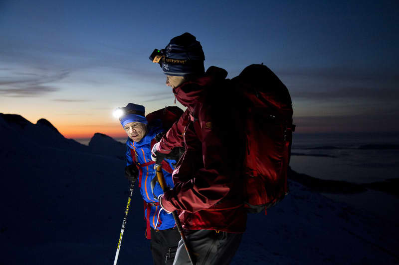 With headlamps on the summit trip, you can enjoy the magical colors of the sky.
