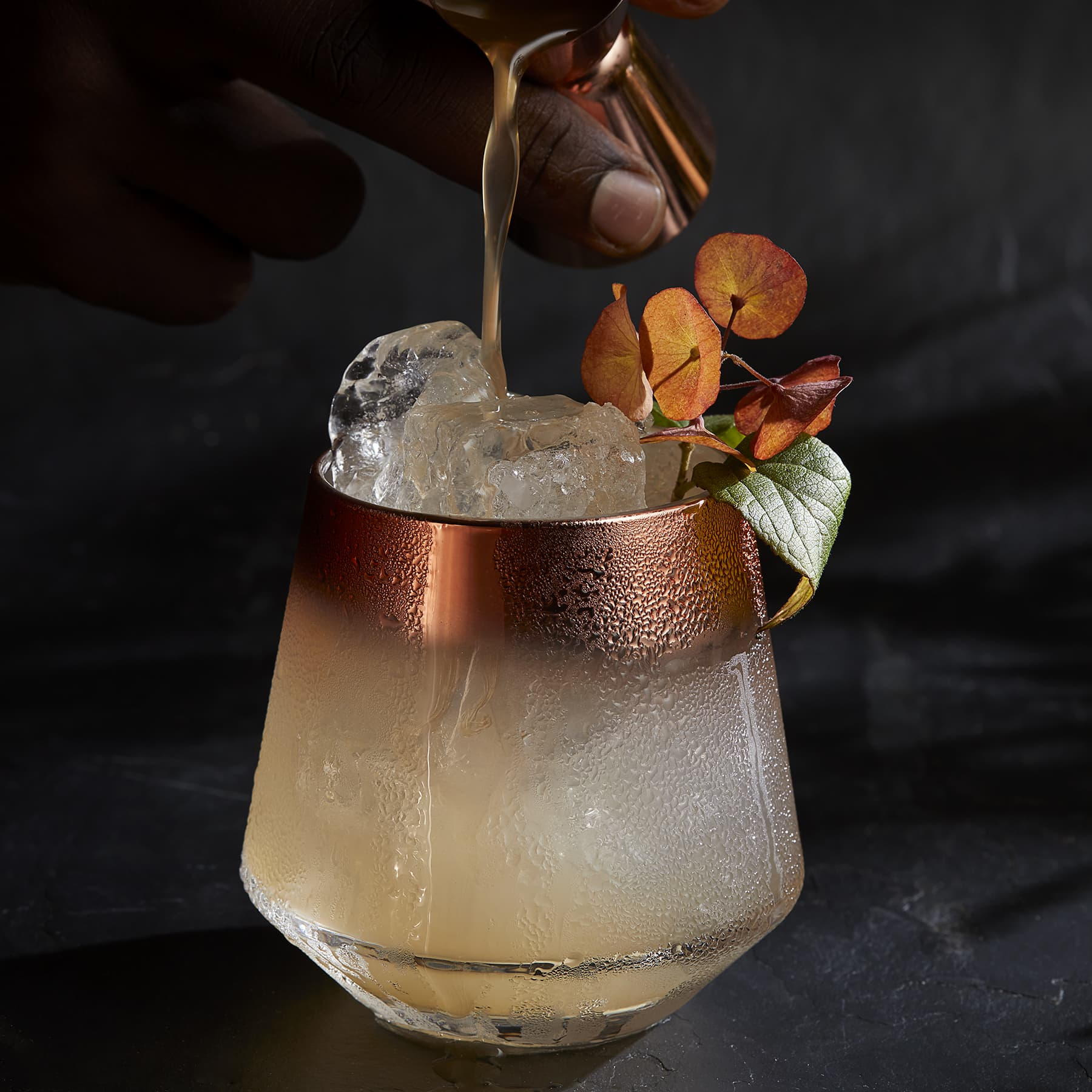 Signature Monks Mary Jane Syrup Cocktail.
